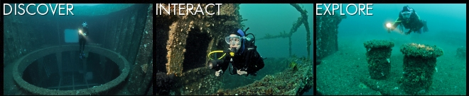 Discover, interact and explore the ex-HMAS Adelaide dive site
